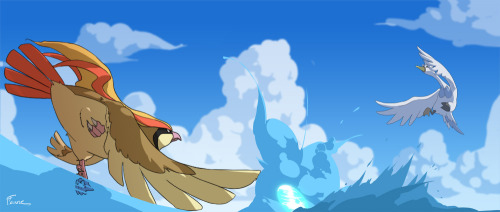 colortherainbow:  Who do you think would win the fight, Pidgeot or Swanna?  swanna