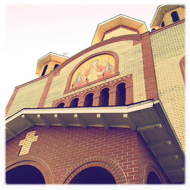 st. mary's romanian orthodox church, elmhurst. on Flickr.St. Mary's Romanian Orthodox Church, located on 74th Street just off of Woodside Avenue in Elmhurst was designed to look like the traditional churches in Romania. Since 1994, they've been building this church to serve the growing community. In nearby Sunnyside, there is a strong Romanian presence with restaurants and shops serving the community.