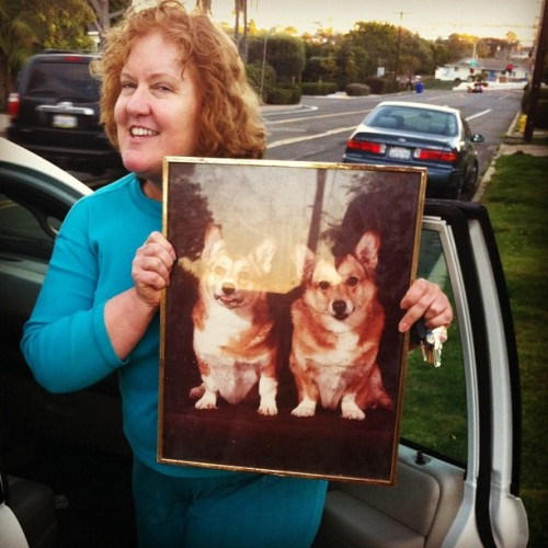 Moving from The Manor and the lady who took the Corgi picture kind of looks like a Corgi.  (Taken with Instagram at The Manor)