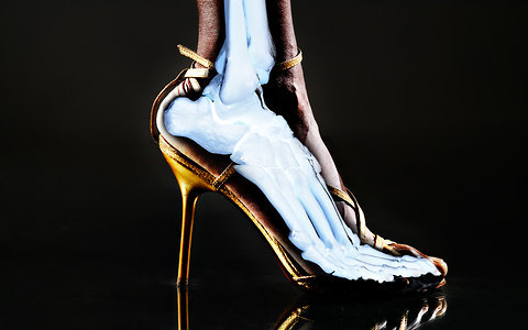 "womenaresociety:  A Scientific Look at the Dangers of High Heels Does it fundamentally matter if a woman's calf muscle fibers shorten and she neglects her tendons while walking, especially if she loves the looks of her Louboutins? That question is difficult for a biomechanist to answer, Dr. Cronin admits. Aesthetics are outside the realm of his branch of science. But the risk of injury is not. ""We think that the large muscle strains that occur when walking in heels may ultimately increase the likelihood of strain injuries,"" he says. (This risk is separate from the chances that a woman, if unfamiliar with heels, may topple sideways and twist an ankle or bruise her self-image, which is an acute injury and happened to me only the one time.) The risks extend to workouts, when heel wearers abruptly switch to sneakers or other flat shoes. ""In a person who wears heels most of her working week,"" Dr. Cronin says, the foot and leg positioning in heels ""becomes the new default position for the joints and the structures within. Any change to this default setting,"" he says, like pulling on Keds or Crocs, constitutes ""a novel environment, which could increase injury risk."" It should be noted, he adds, that in his study, the volunteers ""were quite young, average age 25, suggesting that it is not necessary to wear heels for a long time, meaning decades, before adaptations start to occur."" So, if you do wear heels and are at all concerned about muscle and joint strains, his advice is simple. Try, if possible, to ease back a bit on the towering footwear, he says. Wear high heels maybe ""once or twice a week,"" he says. And if that's not practical or desirable, ""try to remove the heels whenever possible, such as when you're sitting at your desk."" The shoes can remain alluring, even nestled beside your feet. *Click above to read the full article"