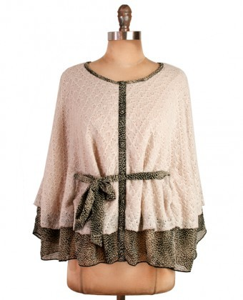 (via Ivory quality chrochet cute cape top) Lovely cape! http://www.tellheryousawme.com/featured-products/ivory-quality-chrochet-cute-cape-top.html