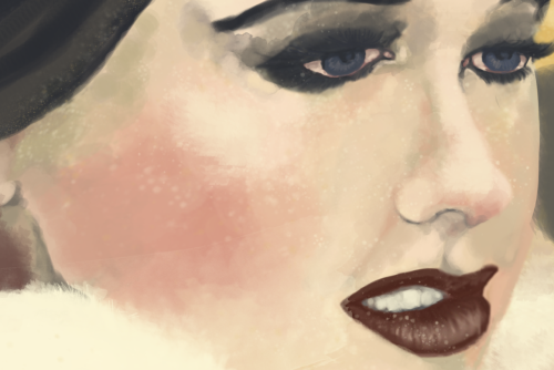 Day 25 Okay so this is a snippet of a WIP that I've been really excited about. I couldn't get out of an art rut on Saturday but I decided to color an old sketch and bam. Idk I just really like this haha