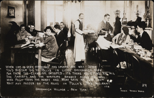 "LGBTQ* History Through Photographs  Polly's Restaurant New York, circa 1918  The bar/restaurant of artists, writers and ""free thinkers"" (Djuna Barnes and Eugene O'Neill were regulars)"