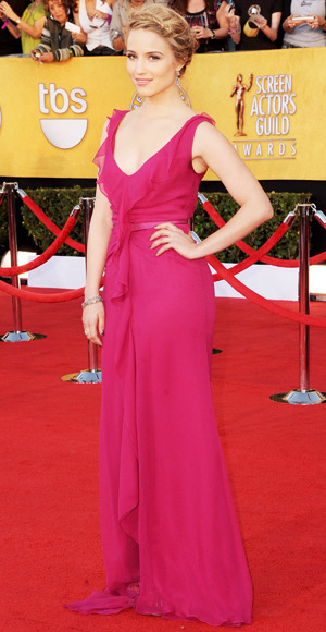 SAG 2012 RED CARPET:  Dianna Agron