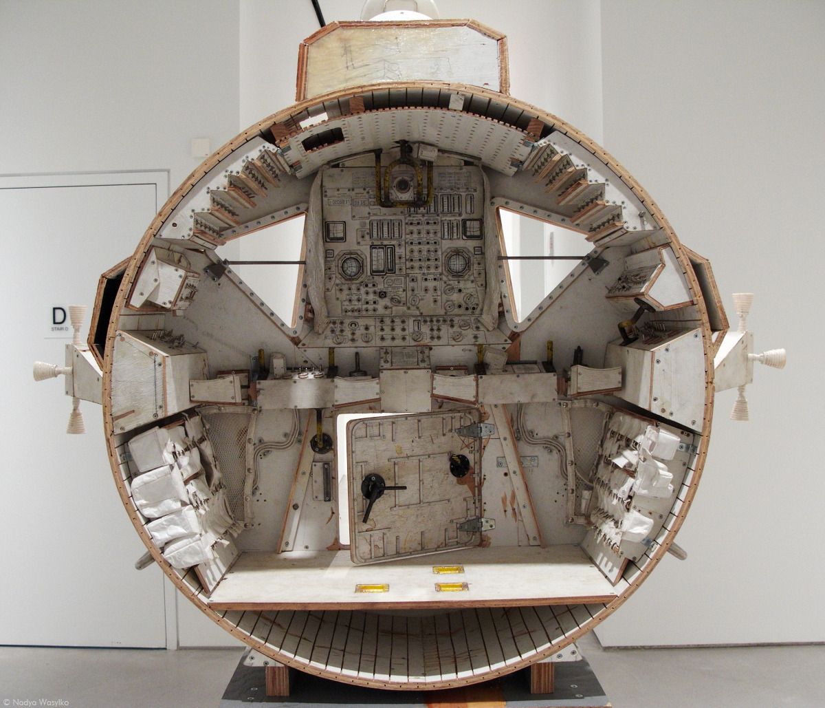 Tom Sachs spaceship cockpit, interior view, at WORK, his recent show at Sperone Westwater gallery on the Bowery. Dec 2011
