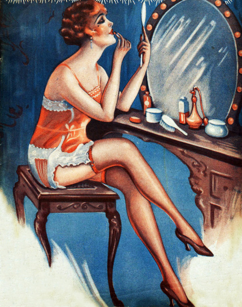 Illustration for the cover of Broadway Nights, Dec. 1928