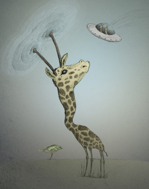Giraffes are secretly an alien race intent on destroying the upper reaches of the canopy.