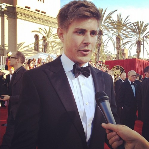 "getchrislowell:  Chris Lowell and the cast of ""The Help"" wins Outstanding Ensemble in a Motion Picture at the Screen Actors Guild Awards 2012. Congrats!"