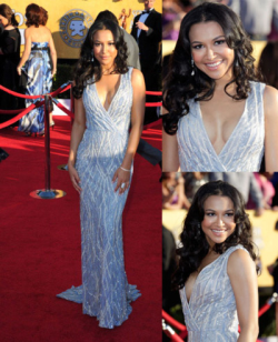 holy shit. seeing photos from the sag awards and seeing naya in that dress ! omg! she's beautiful.  lol, bye ovaries.