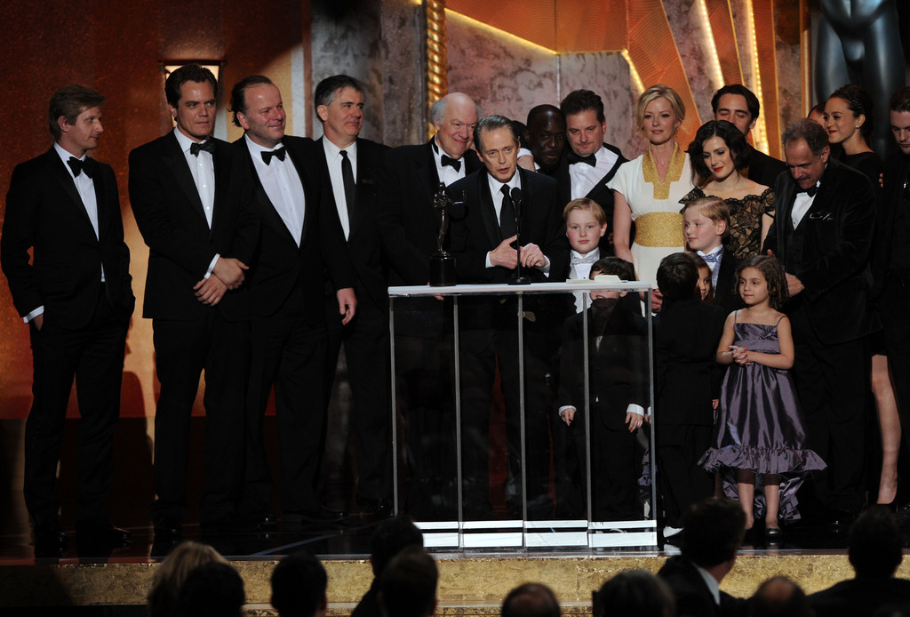 bohemea:  The cast of Boardwalk Empire accepting their SAGs THIS IS TOO MUCH! I'm so happy right now! ZOD IS THERE! IN A TUX! Look at all the double Tommies & Schroeder babies! Wonderful!  MICHAEL SHANNNNNNNNON!!!!!!!!!!!!!  MIGHT WE ALL GO WITH ZOD!!!!!