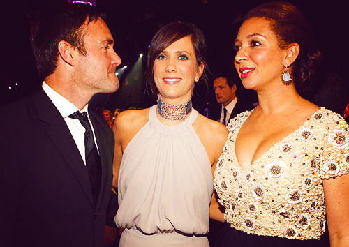 annperkins:  Will Forte, Kristen Wiig and Maya Rudolph @ The  18th Annual Screen Actors Guild Awards on January 29, 2012 in Los Angeles, California.