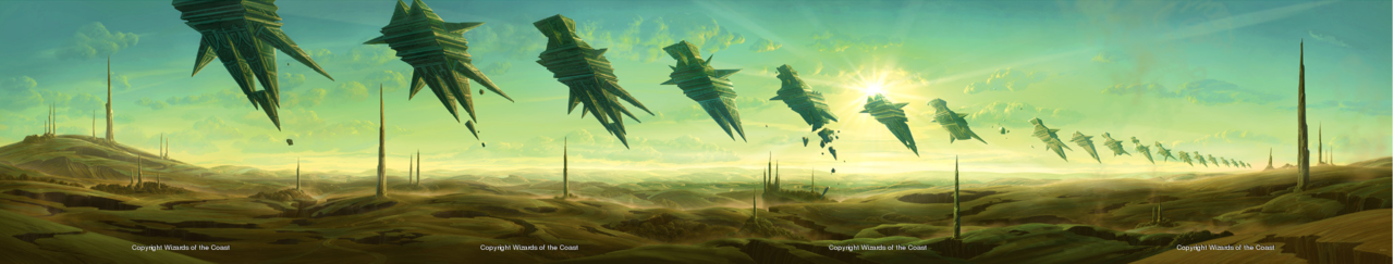 Rise of the Eldrazi Plains Panoramic Art by John Avon Click here to see the 2044x388 full size