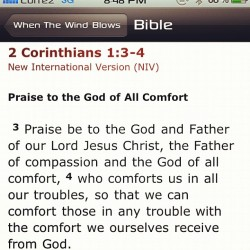 meeksborlaza:  malanjournal:  Taken with instagram  We are comforted to comfort.