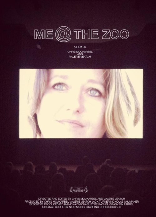 Official 'Me At The Zoo' online promo poster featuring Chris Crocker's mom on the big screen, during the premiere at Sundance Film Festival. Documentary premiering on HBO this summer.