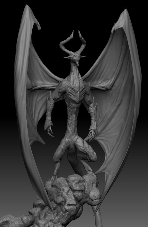 Nicol Bolas 3D art rendering (Maya) and composed in Photoshop by Gidzor