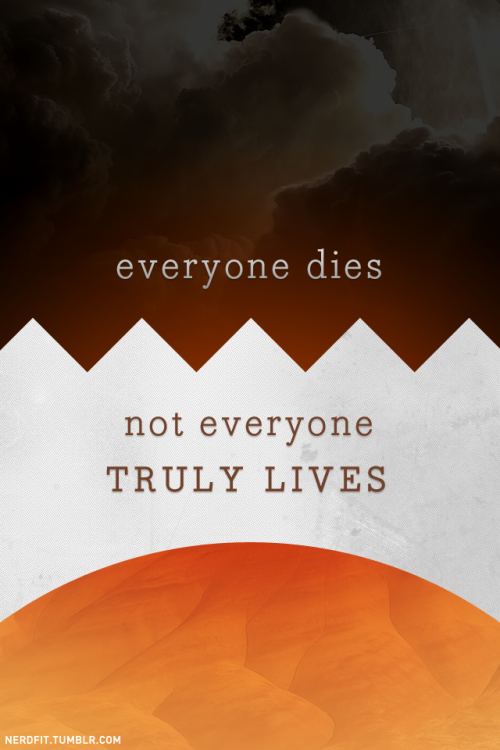 Everyone dies. Not everyone truly lives.  I know I'm getting a little more existential than usual, but keeping fit, keeping with your goals, and reaching the ultimate potential of our mortal beings is at least a catalyst to truly living. We should remember that, and embrace it as motivation. Inner reflection coupled with outward representation. I just got back from 70K Tons of Metal - I've made the following video to demonstrate how my week went: http://www.youtube.com/watch?v=IjkUitcIiyg&hd=1 In one word, insane.