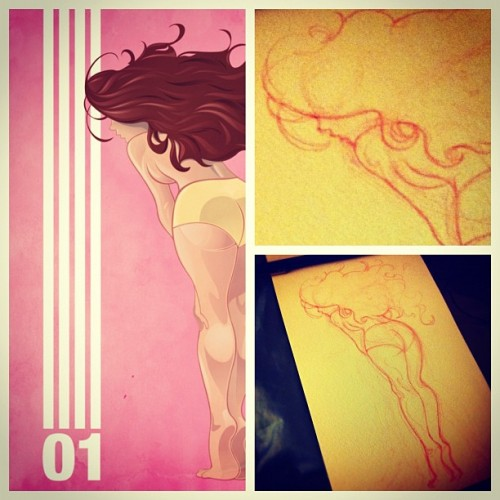 Almost done with this piece. :) #illustration #pinup #cheesecake #art #sexy #vector #design #pentool #pink #girl #hot #illustrator  (Taken with Instagram at Home)
