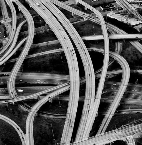 amylmck:  Aerial view.  Junction - 4429 by utoks on deviantart:  This is I-20 going over the I-75/I-85 connector.
