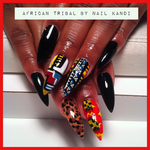 hailnails:  Hot African Tribal by Nail Kandi
