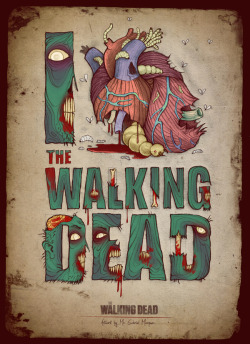 "Posters for ""The Walking Dead"" on Typography Served)"