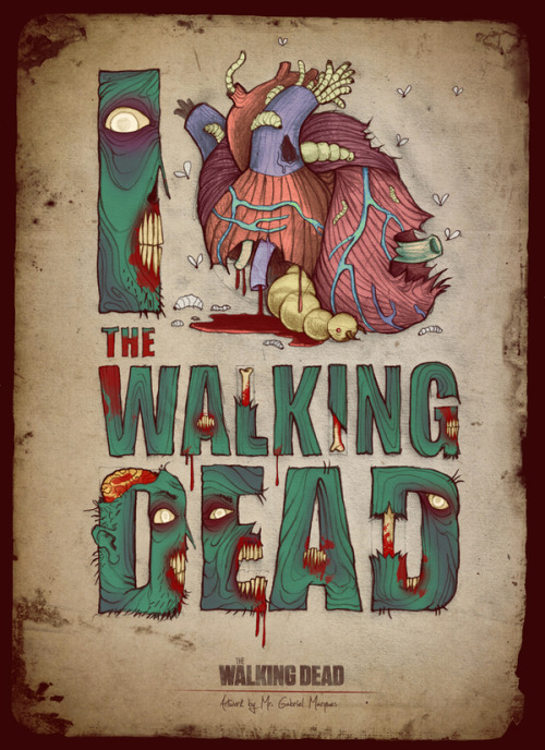 "(via Posters for ""The Walking Dead"" on Typography Served)"