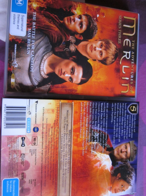 embrace-inthetardis:  hey guys, so i've ended up with two copies of BBC's Merlin series three so i have decided to give one away on tumblr. a lot of you probably have series three of Merlin, but just on the off chance that  you don't i decided to do this. plus i just want to get rid of it haha. anyways, the rules are simple: - likes and reblogs both count - you can reblog as many times as you like and the more you reblog the more chance you have of winning. - you do not have to be following me but i will welcome you if you do (: - i am willing to ship to anywhere in the world for free. - but, the DVD is an Australian DVD which means that it can only be played in region 4 which includes the following countries Mexico, South America, Central America, Australia, New Zealand, Pacific Islands, Caribbean. If you are from any other country you must have a multi region dvd player to be able to watch the DVD. sorry. - The winner will be drawn using a random generator and they will be chosen on the 1st of March.  - i will be contacting the winner through ask or submit box so make sure you leave them open. and that it, Good luck guys (: x