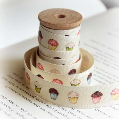 "lovelyetsy:  ""Muffins"" Cotton Tape by lillalotta"
