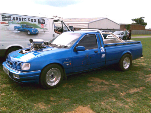 Ford Escort Pickup. Needs more supercharger….