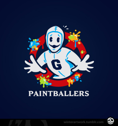 "winterartwork:  ""Paintballers""When there's something strange in your community college…who ya gonna Chang?BUY IT HERE Twitter  •  Facebook  • Flickr  • Tumblr"