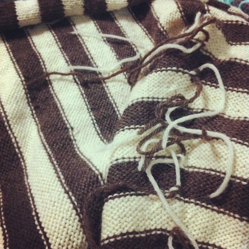 Finishing my stripes cardigan  (Taken with instagram)