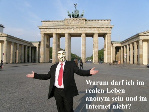 Warum kann man im echten Leben anonym sein, im Internet aber nicht? Why can you be anonymous in real life, but not on the Internet?
