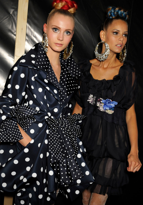 Backstage: Christian Lacroix, Haute Couture Spring/Summer 2009.