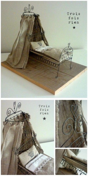 "DIY Wire Sculpture Inspiration: ""Sleeping for 100 years…"" from troisxrien here (with lots of great wire sculptures on their site). I've posted lots of wire jewelry tutorials that teach basic wire working methods here: http://truebluemeandyou.tumblr.com/tagged/wire. Want some royal clip art inspiration? Go to The Graphics' Fairy here."