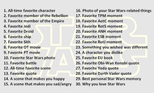 Finally decided to do a 30 Day Challenge. So …  A Long Time Ago In A Galaxy Far, Far Away …