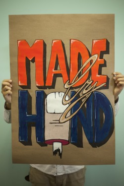 Theme: 'Made By Hand' Acrylic & Pen on recycled paper. By Christopher Chase
