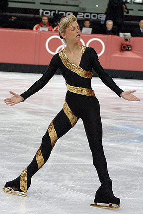 Idora Hegel's short program costume at the 2006 Olympic Games. Photo by Barry Mittan.