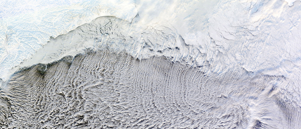 Cloud Streets over the Bering Sea (by NASA Goddard Photo and Video)