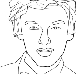 codysimpsongreecechrisla143:  Another lineart of Cody.Tell me sth.Is it me or that lineart makes him look like Leonardo DiCaprio when he was 23 yrs old?Lol!!!!