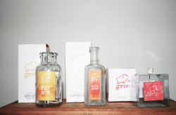 "Gaman (2011) Packaging for cosmetics. New York, US Gaman means in Japanese ""the strengh and dignity with wich someone fights the problems of life"". This cosmetic's brand is designed for adventurers, people who constantly travel from one place to another. That flirt with adventure, are willing to take risks and have a very elegant way of carrying themselves. The female line is based on watermelon perfume, coconut body lotion and a tonic. The male is wood essence, body lotion and aftershave. Both have anti mosquito."