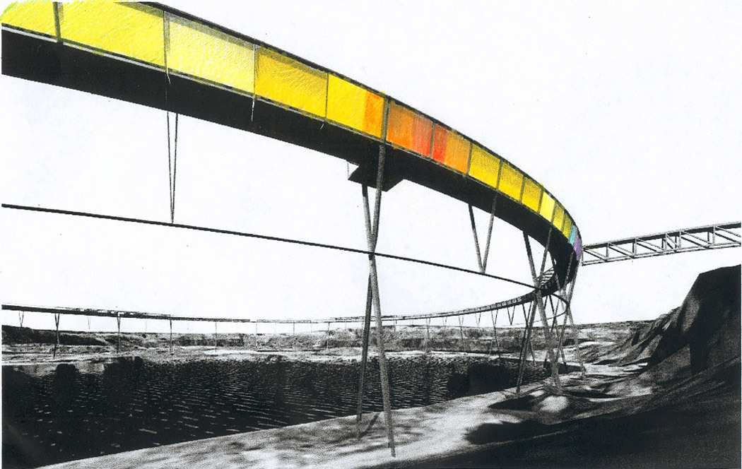 Drawing of The Brick Pit Ring (2005) by Durbach Block Architects in Australia.