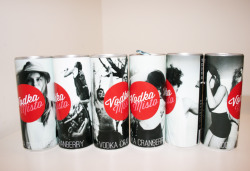 Misto Drinks (2011) Package + Brand design. New York, US Misto is a ready mixed drink brand. Coctails with four basic alcoholic drinks. There is VODKA MISTO, cranberry lime and vodka; GIN MISTO, is a tom collins; TEQUILA MISTO, tequila and orange juice, also known as tequila sunrise; and RUM MISTO, wich is a Cuba Libre or rum with Coca Cola. The idea of this drinks is that they are, like beer, already mixed on a can. So you dont have to worry about getting the ice on one side, the mix and the alchol separatelly. it all comes in one. It also represents the fun of drinking. Each can has a different black & white photography of people having fun. It doesnt mean you have to get drunk for the sake of getting drunk, this is a more elegant version of that, MISTO is about enjoying your drink. Each can, as well as the 6 pack box, have a different quote that goes along the philosophy of enjoying life and living the moment.