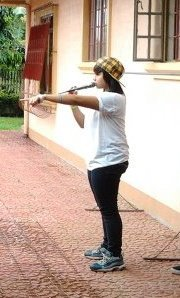 Le me,choreographing our dance and singing performance LIKE A BOSS..