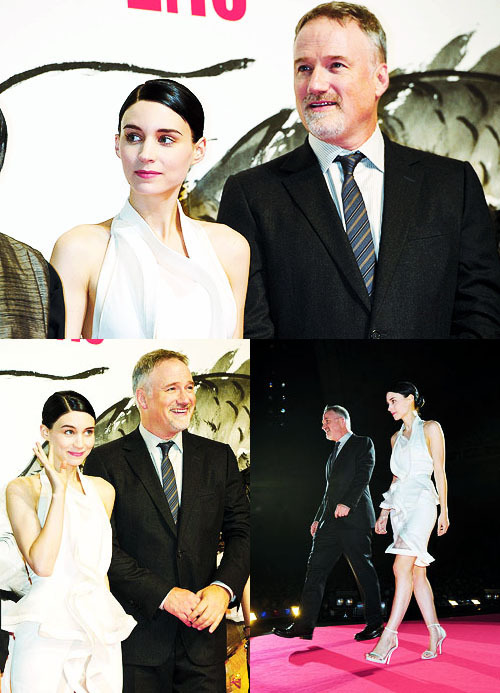 "Rooney Mara and David Fincher | Japan premiere of ""The Girl with The Dragon Tattoo"""