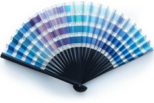 (via swatches and palettes / johnson banks pantone fan (like that it is all the cool tones))
