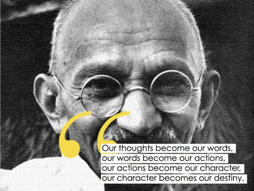 curiositycounts:  64 years ago today, the world lost Gandhi – remember him with these timeless words.