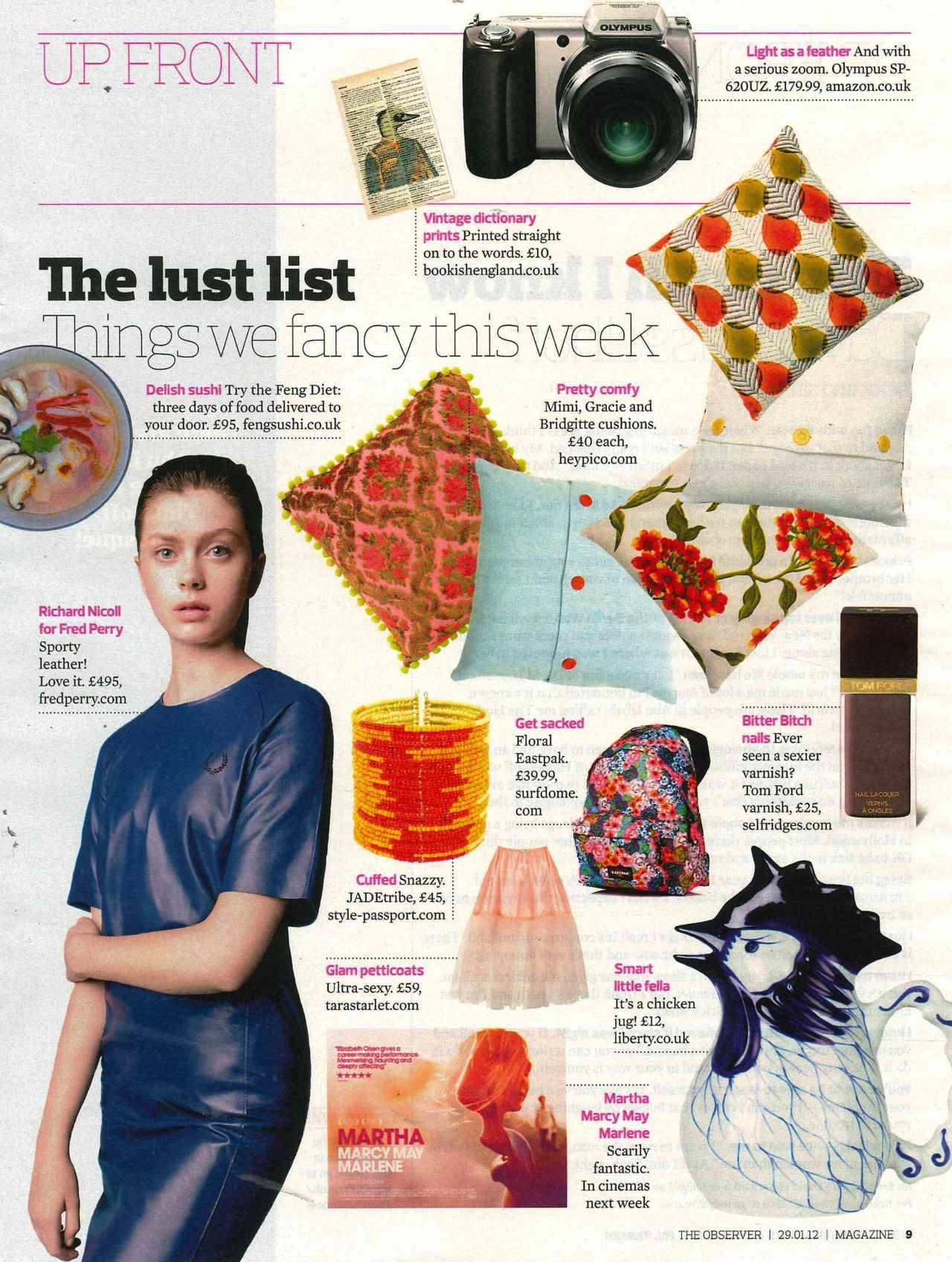 @TaraStarlet featured in The Observer. Click to shop!