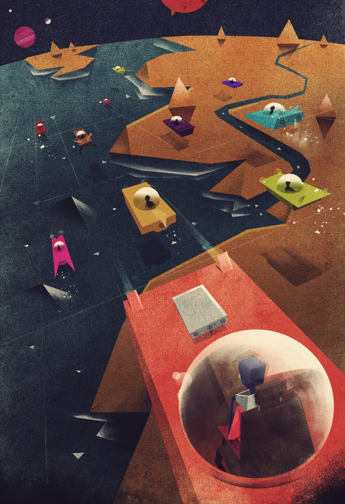 "Futuristic Illustrations by Dan Matutina Illustrations for Alex Mathers' book on ""Self-Promotion using Google Plus"" Artworks by Dan Matutina. More inspiring illustrations. posted by W.A.T.C.Facebook // Twitter // Google+ // Pinterest"