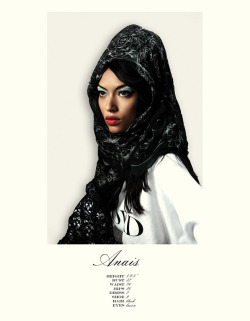 Anais Mali (Ford) | Fall 2012 Show Card (Creative direction: Paul Rowland; Photography, Sloan Laurits)