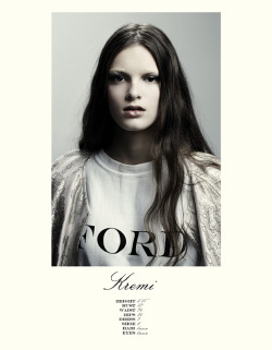 Kremi Otashliyska (Ford) | Fall 2012 Show Card (Creative direction: Paul Rowland; Photography, Sloan Laurits)