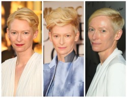 Never mind the best actress votes; Tilda Swinton won the award for best short hair at the SAGs.
